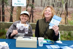 Author/Artist Carol Saxe and volunteer Shari Thompson