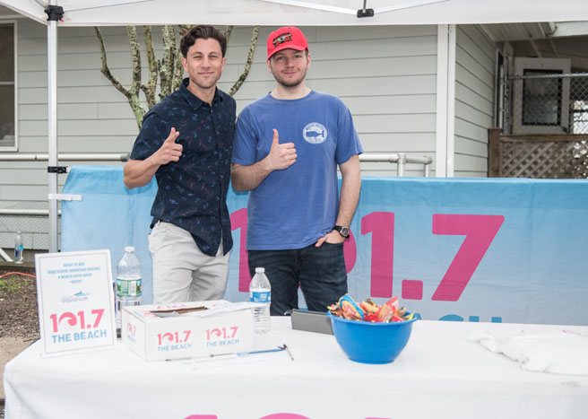 Beach Radio 101.7 was on hand for the celebration