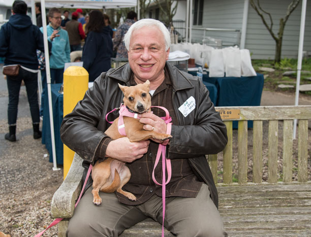 David Buda with his former ARFan Phoebe