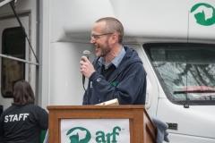 ARF's Scott Howe addresses the crowd