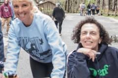 The welcoming crew: Volunteers Nancy Butts, ARF's Scott Howe, Gwendolen Bokine and Deb Sherman.