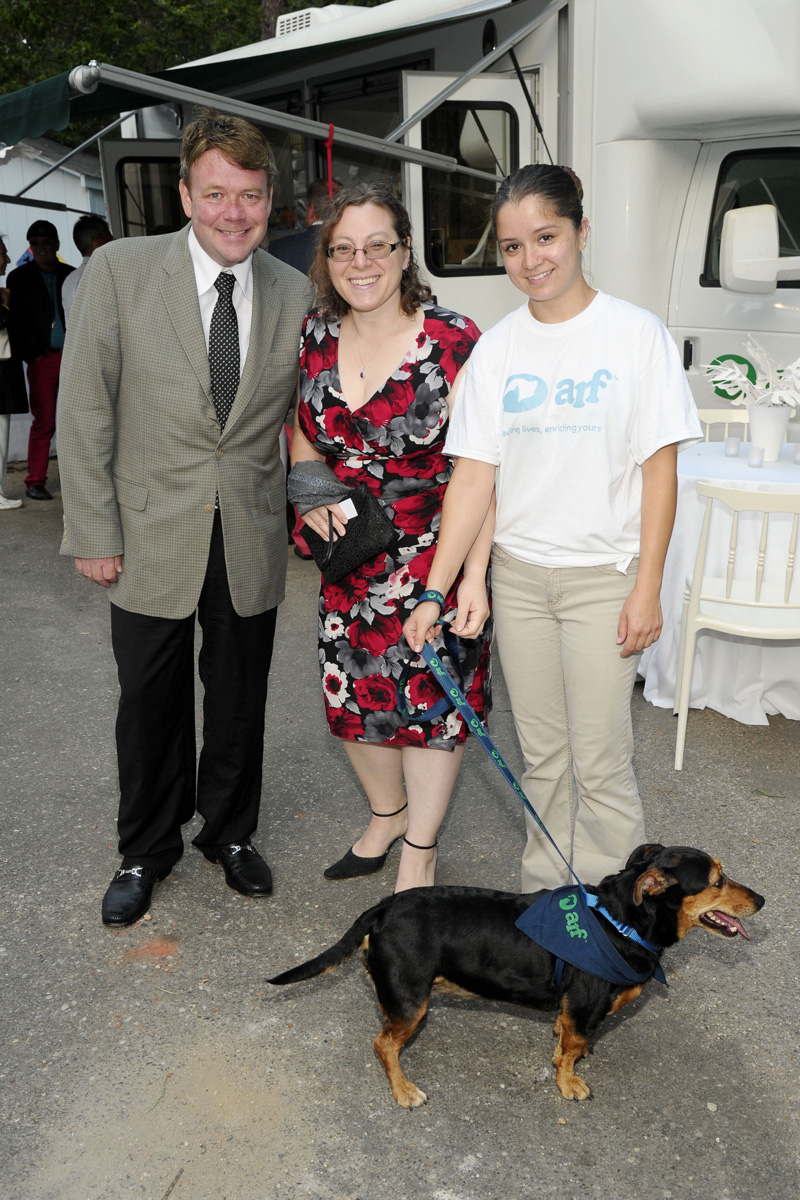 Patrick Mullaly, Christine Asaro==Animal Rescue Fund of the Hamptons Bow Wow Meow Ball==Animal Rescue Fund Of The Hamptons, Wainscott, NY==August 20, 2016==©Patrick McMullan==Photo - Owen Hoffmann/PMC== ==