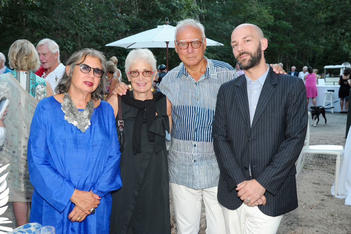 Suzy Slesin, Barbara Toll, Michael Steinberg, Renaud Proch==Animal Rescue Fund of the Hamptons Bow Wow Meow Ball== Animal Rescue Fund Of The Hamptons, Wainscott==August 20, 2016==©Patrick McMullan==Photo: PatrickMcMullan/PMC====