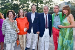 Pamela Fiori, Sarah Simms, George Farias, Peter Duchin, Christopher Mason, Ivana Nowell==ARF's Bow Wow Meow Ball==ARF Adoption Center, Wainscott, NY==August 19, 2017==©Patrick McMullan==Photo - Sean Zanni/PMC====