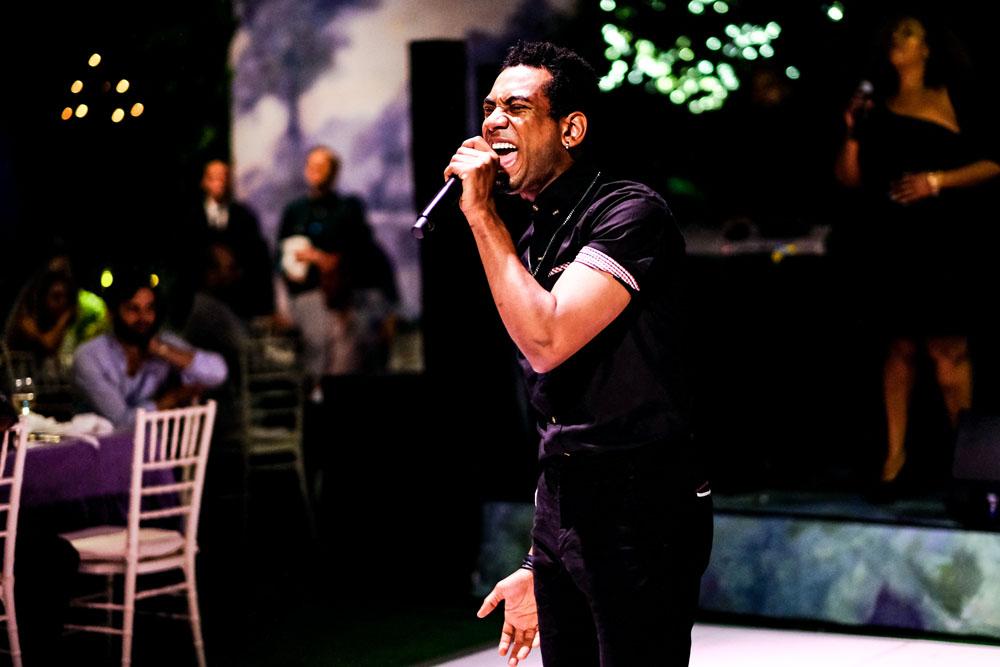 American Idol's Joshua Ledet performs