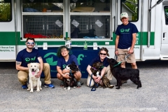 ARF staff and dogs