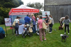 Event Sponsor, East End Veterinary Center was on site for free nail clipping for your dog.