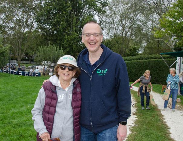 ARF Executive Director Scott Howe with Board Member Barbara Slifka