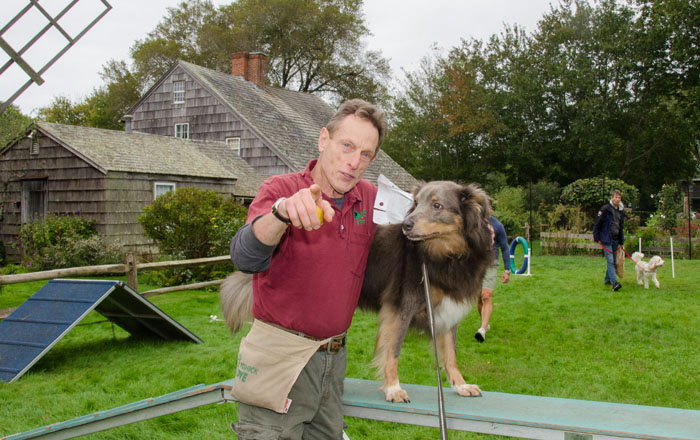 ARF Dog Trainer Matthew Posnick with former ARFan Tara