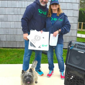 2nd Place Top Fundraiser: Majo Prazenec and Buddy with ARF's Jamie Berger.