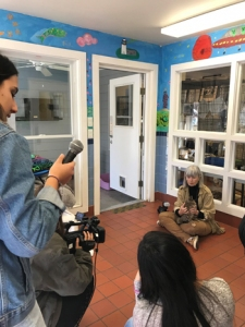 Students interview Durell Godfrey of the East Hampton Star about the program.