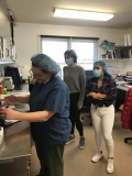 Students work in ARF's medical wing with ARF's Dr. Asaro, ARF's Medical Director