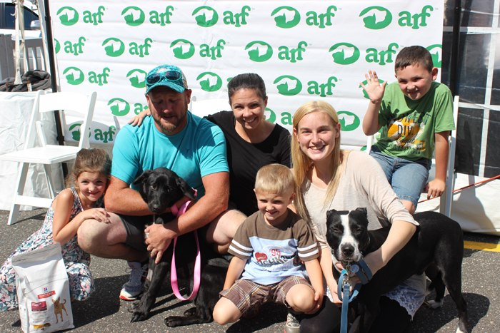 Hailee and her new family.