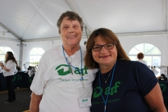 Volunteers Eunice Bennett and Barbara Medlin.