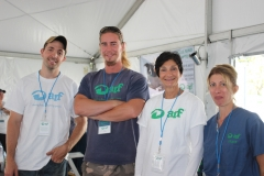 ARF staff Bill Gardiner, Mike Hinz with volunteers Nancy Buscemi and ARF's Dr. Barbara Pezzanite.