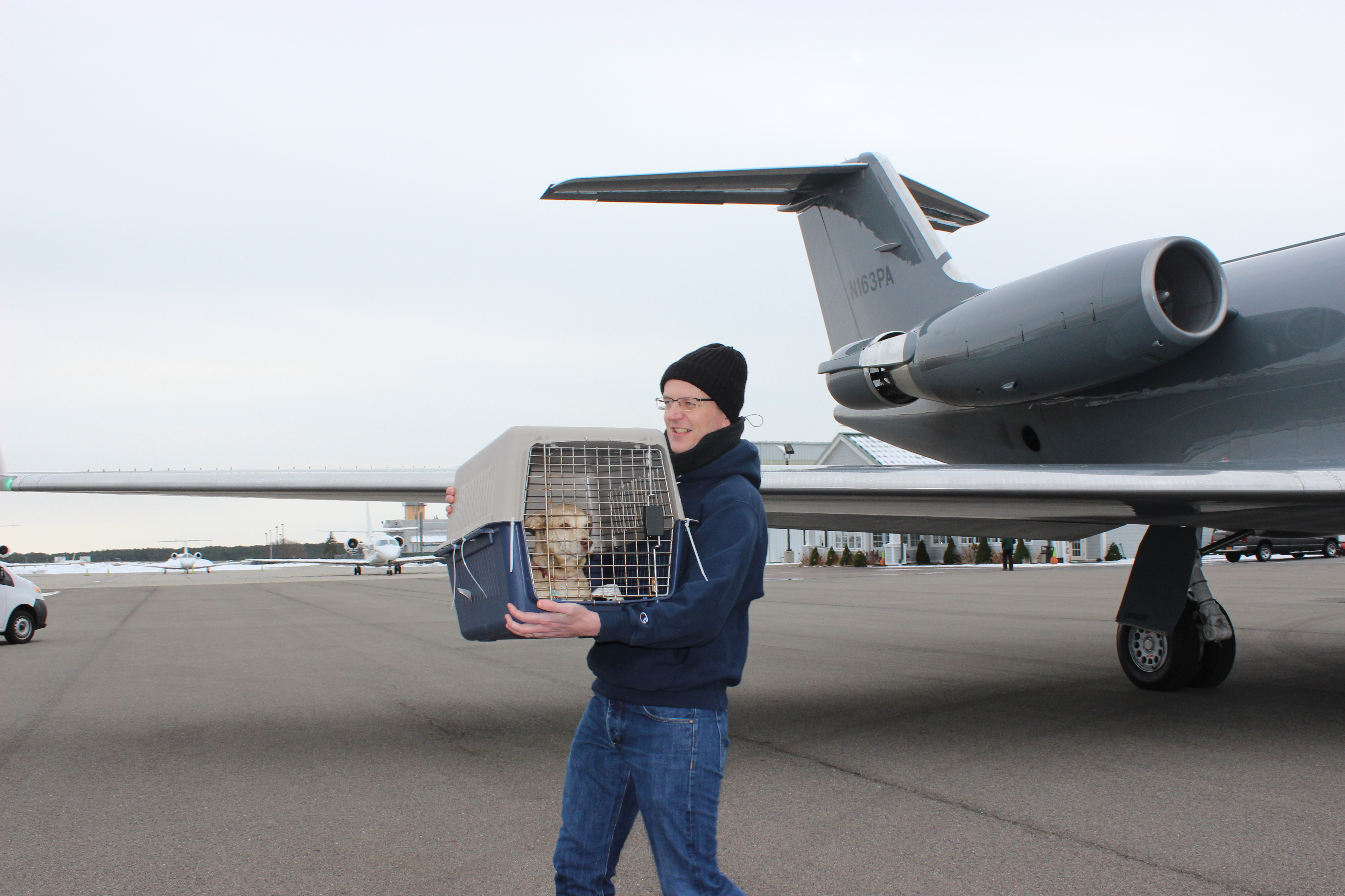 From airplane to ARF transport van