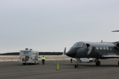 ARF on the tarmac at Gabreski Airport in Westhampton.