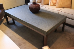 Stone and Wood Coffee Table