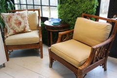 Antique Wicker Set (4 chairs available)