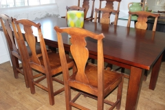 Wood Table and Chairs (8 Chairs sold separately)